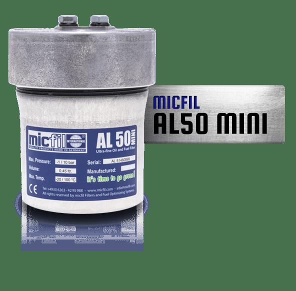 MicFil AL50MINI brandstof filter en oliefilter systeem
