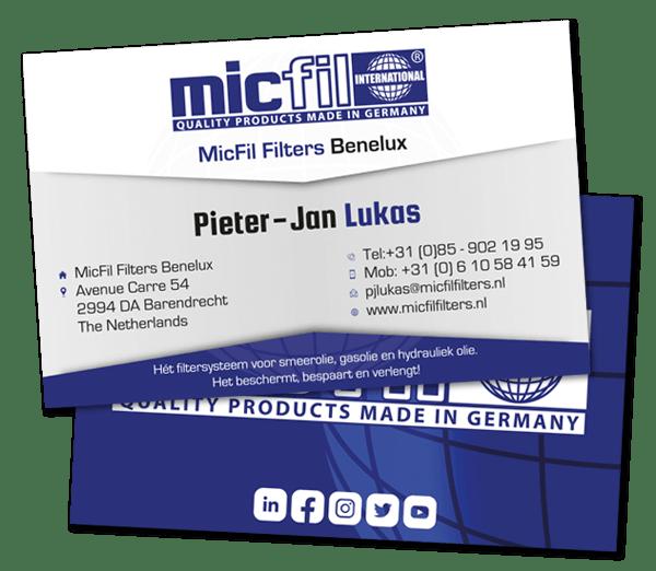 Pieter-Jan Lukas - MicFil Filters Benelux