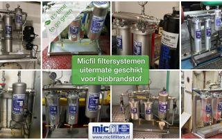 Biobrandstof filtering