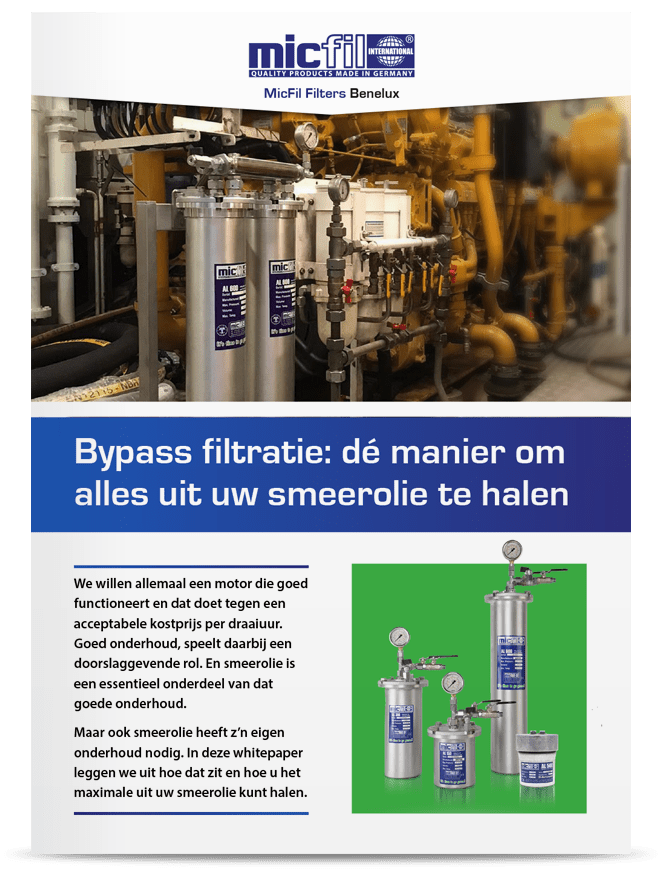 Micfill Filters Bypass smeerolie filtratie